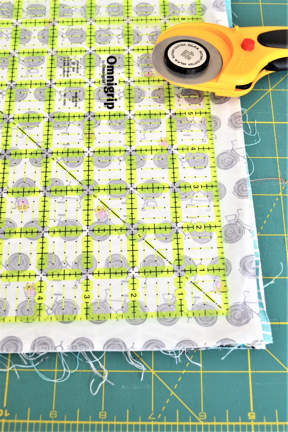 How to Sew Baby Blocks With Taggies! - cutting squares