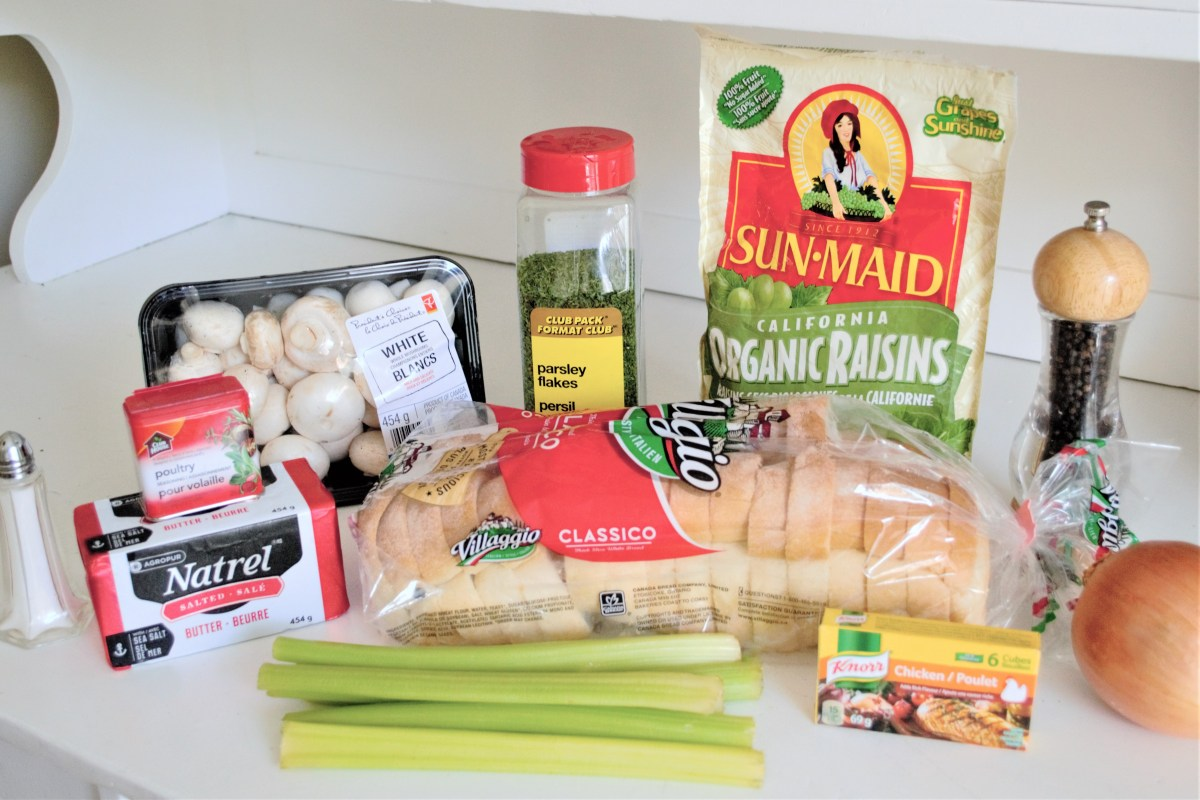 Mom's Turkey Stuffing Recipe - ingredients