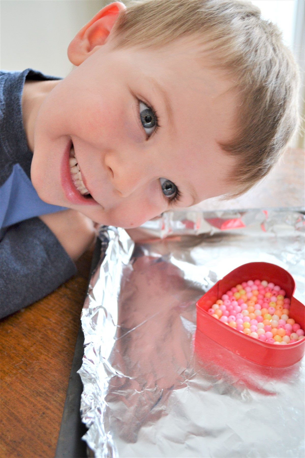 Kids Craft Idea: Cookie Cutter Melty Beads - beads for kids