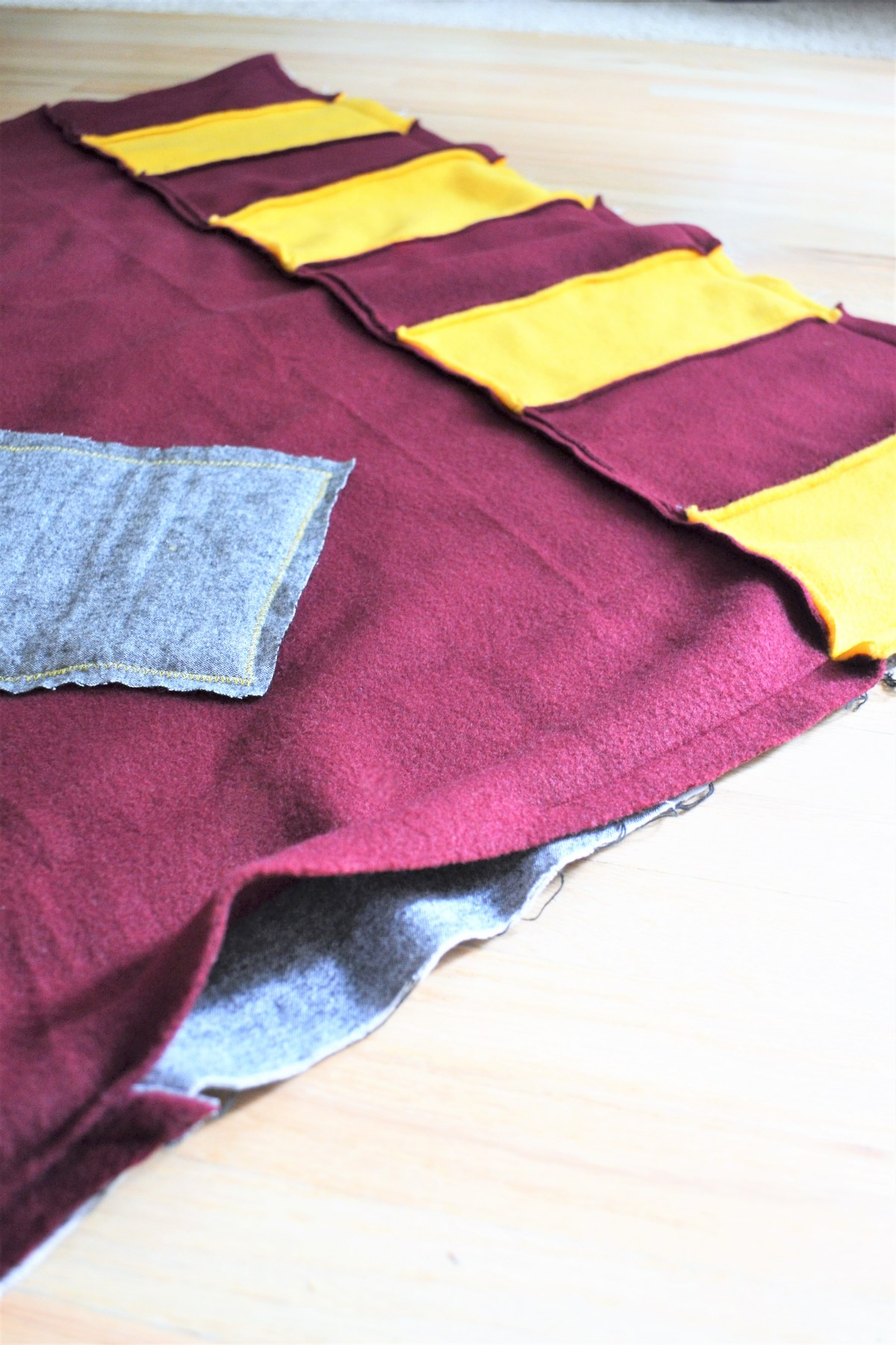 How to Make a Reversible Hooded Baby Blanket - leave a hole