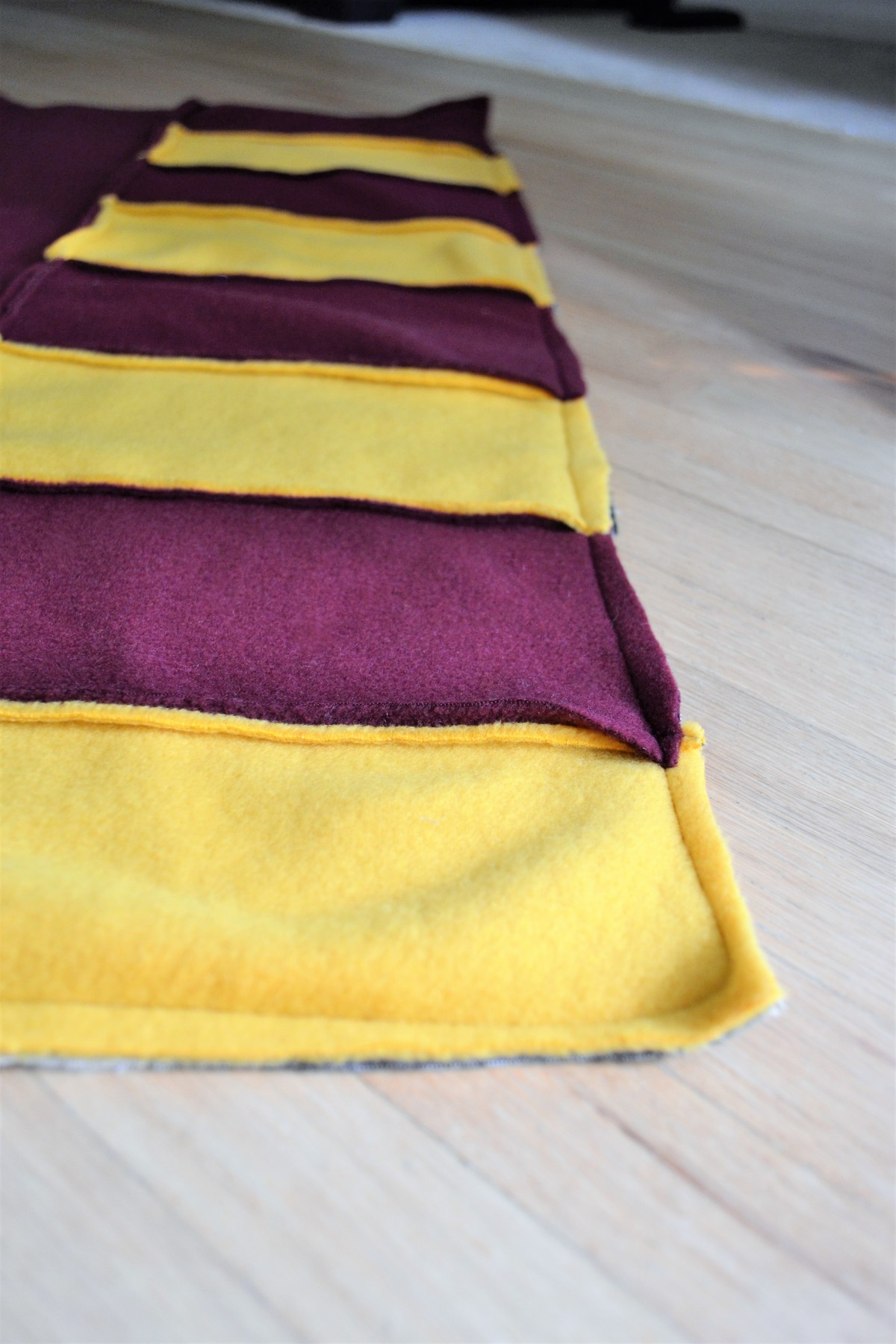 How to Make a Reversible Hooded Baby Blanket - trim excess