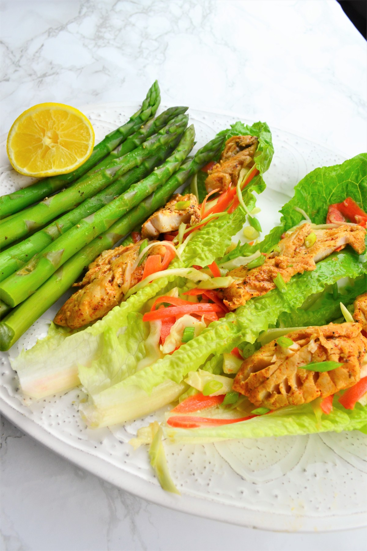 Weight Loss: Fish Taco Lettuce Wrap Recipe - healthy taco recipe
