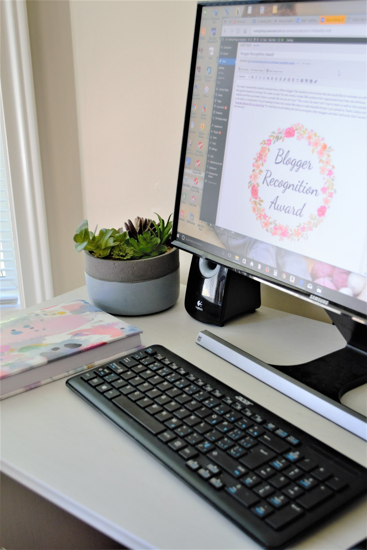 Blogger Recognition Award - my workspace