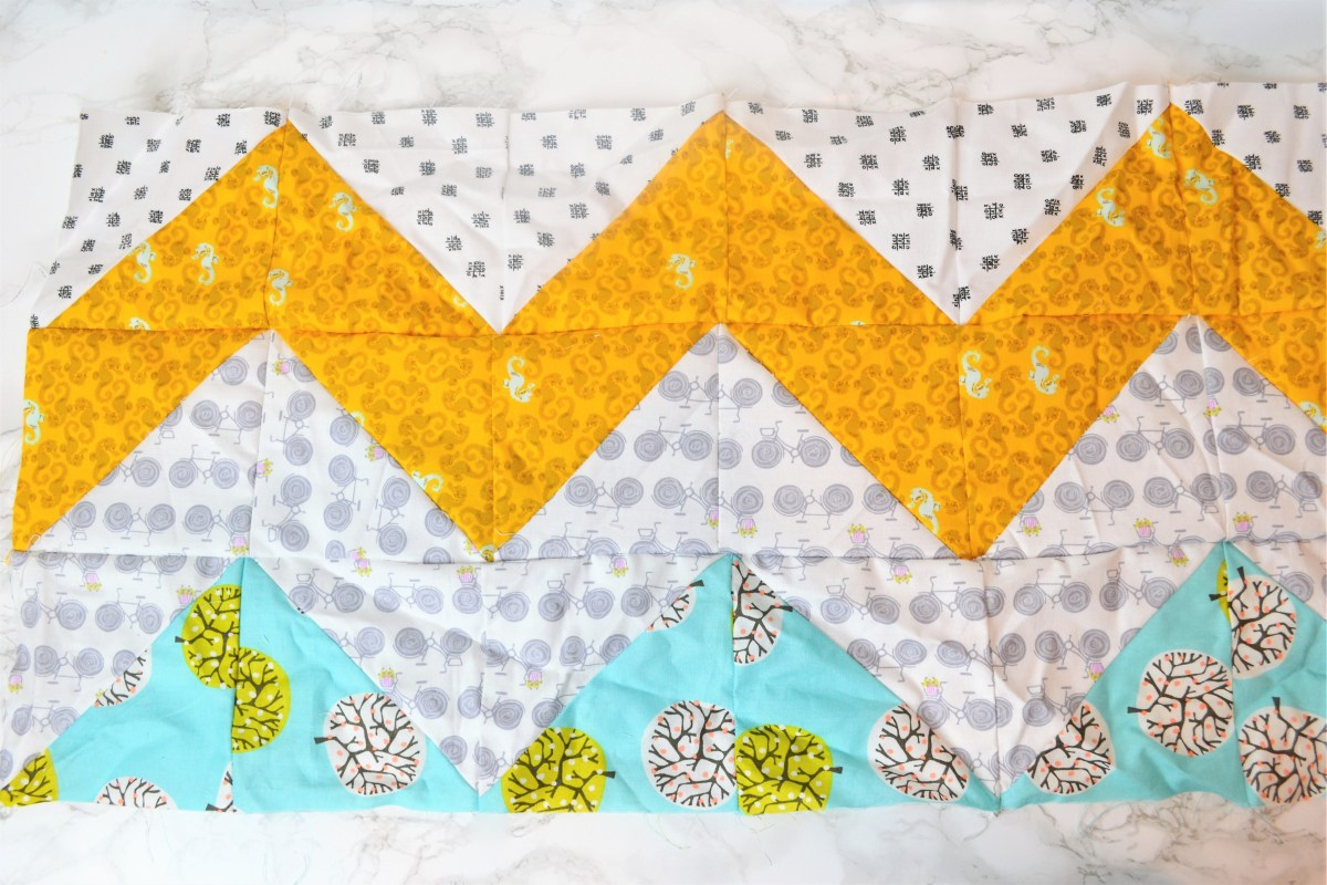 Chevron Quilt Pattern - Quilt Patterns for Beginners! - third row