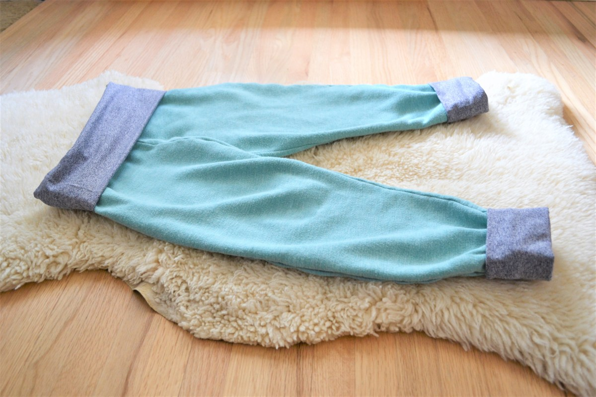 Toddler Boy Grow-With-Me-Pants Tutorial - finished pants