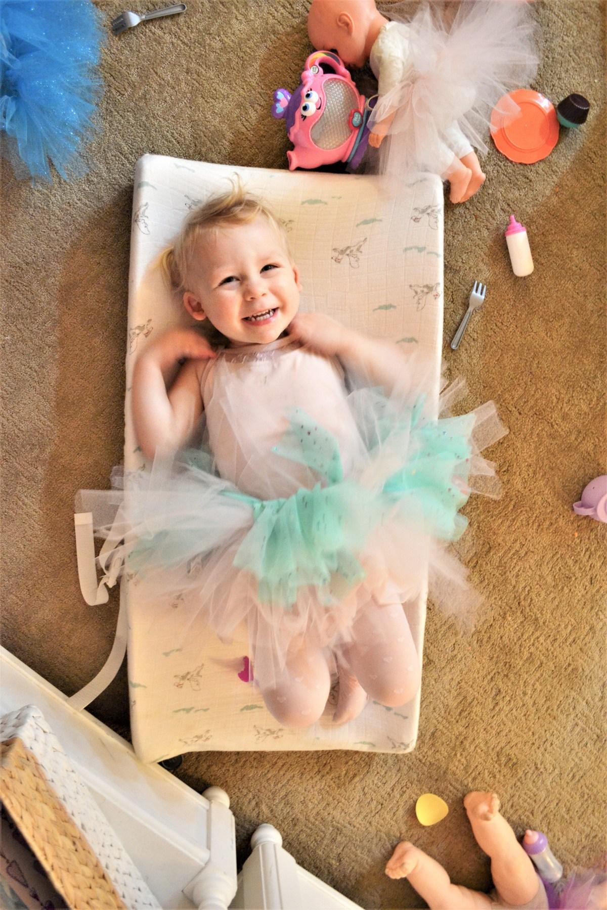 Baby Doll Party Theme - birthday girl tutu