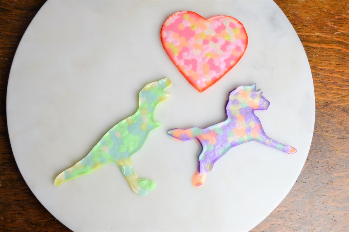 Kids Craft Idea: Cookie Cutter Melty Beads - melty beads heart