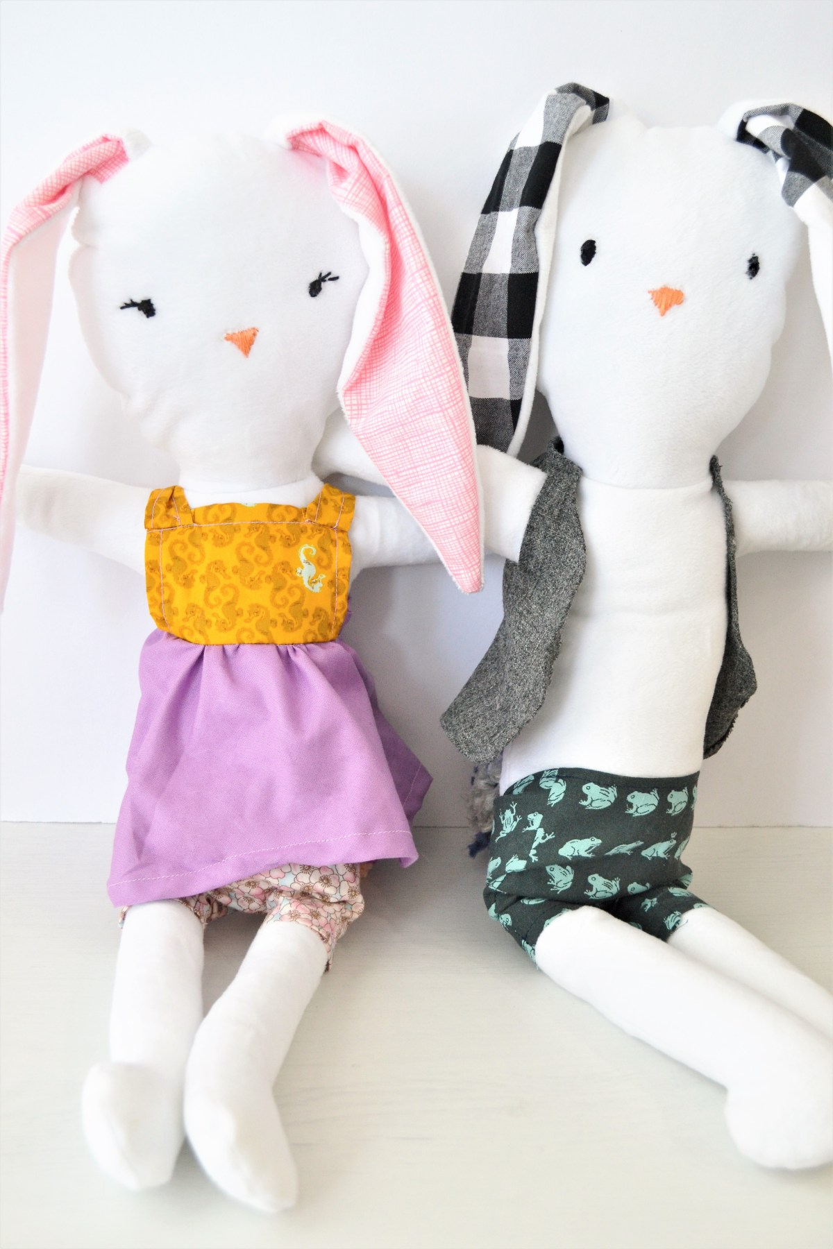 How to Make a Simple Stuffed Animal: Cute Bunnies!! - Making Things