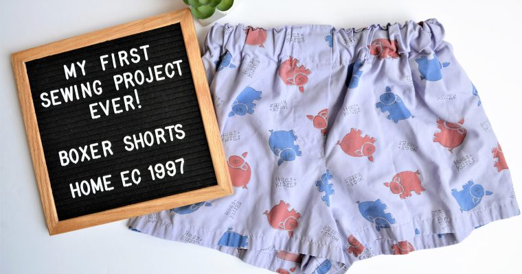DIY Boxer Shorts: My First Sewing Project EVER!