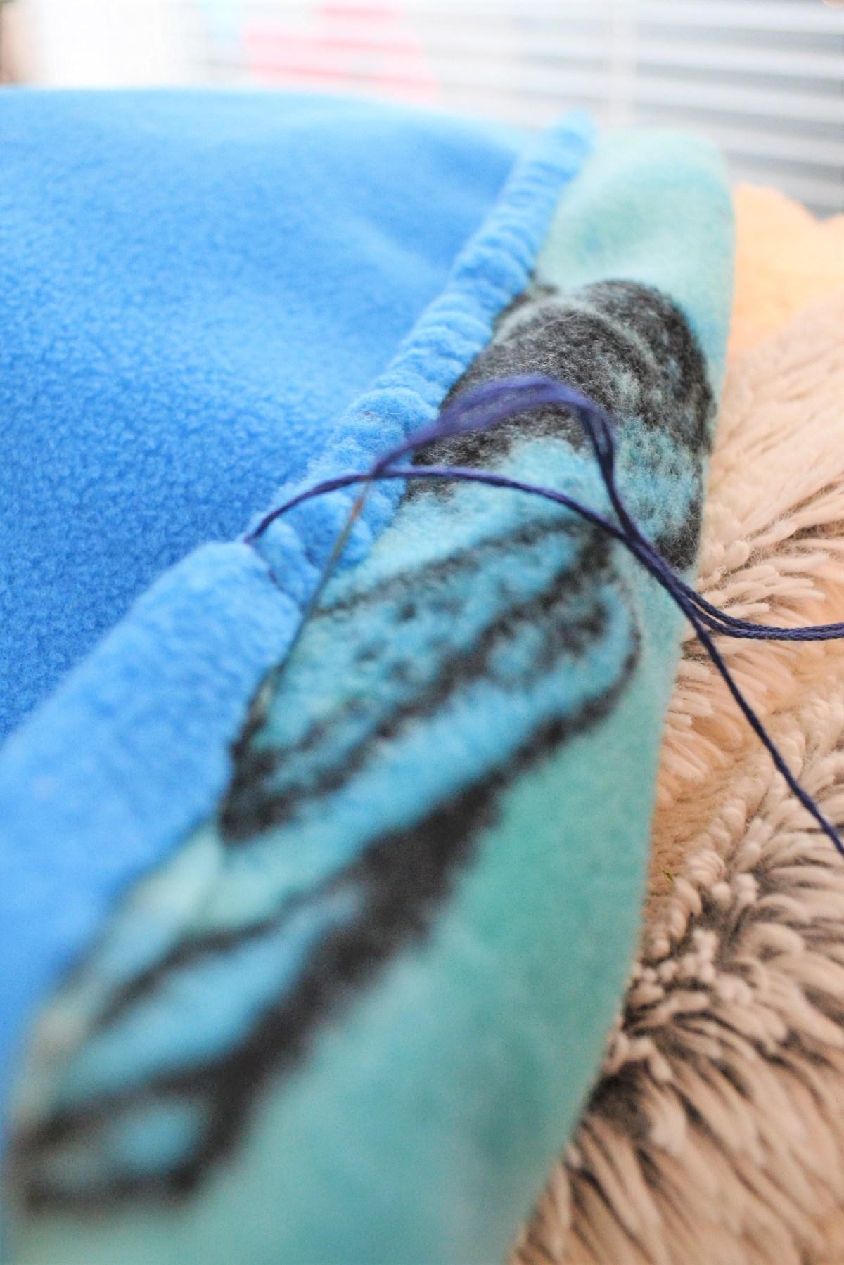 Hand Sewn Fleece Toddler Blanket Tutorial! - The Blanket Stitch! - The stitch