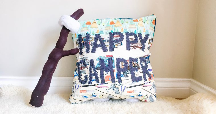 Happy Camper Throw Pillow – Sewing Project For Your RV!
