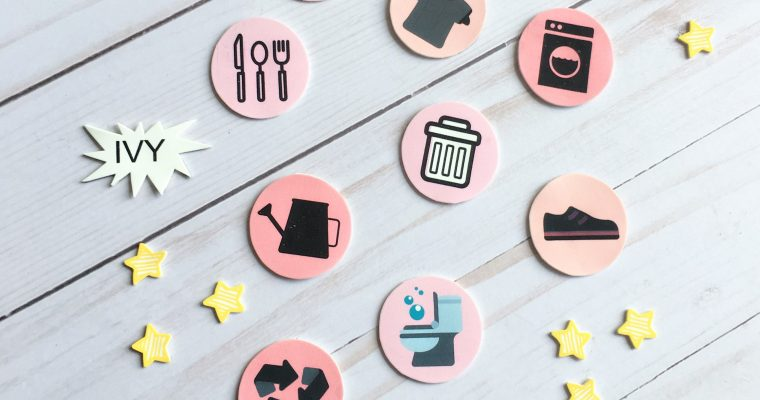 FREE Printable Chore Chart – Made With Magnetic Shrinky Dinks!
