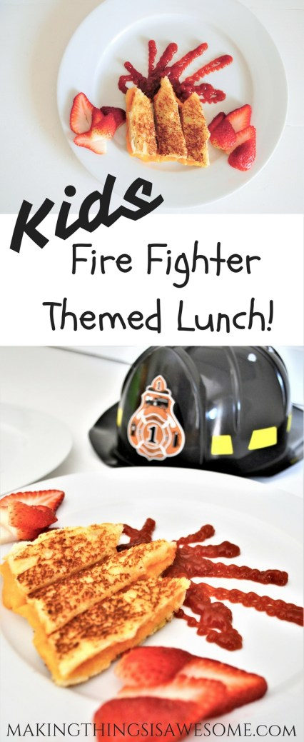 Kids Fire Fighter Themed Lunch - Kids Meal Ideas!