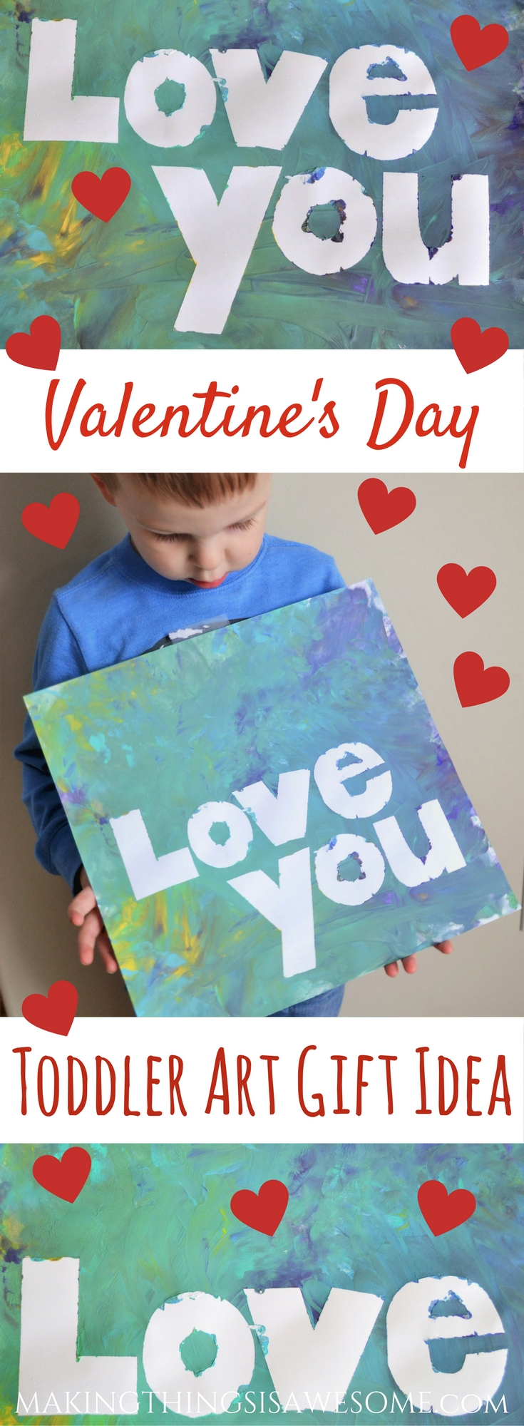 Toddler Aft Gift Idea - For Valentine's day - pin