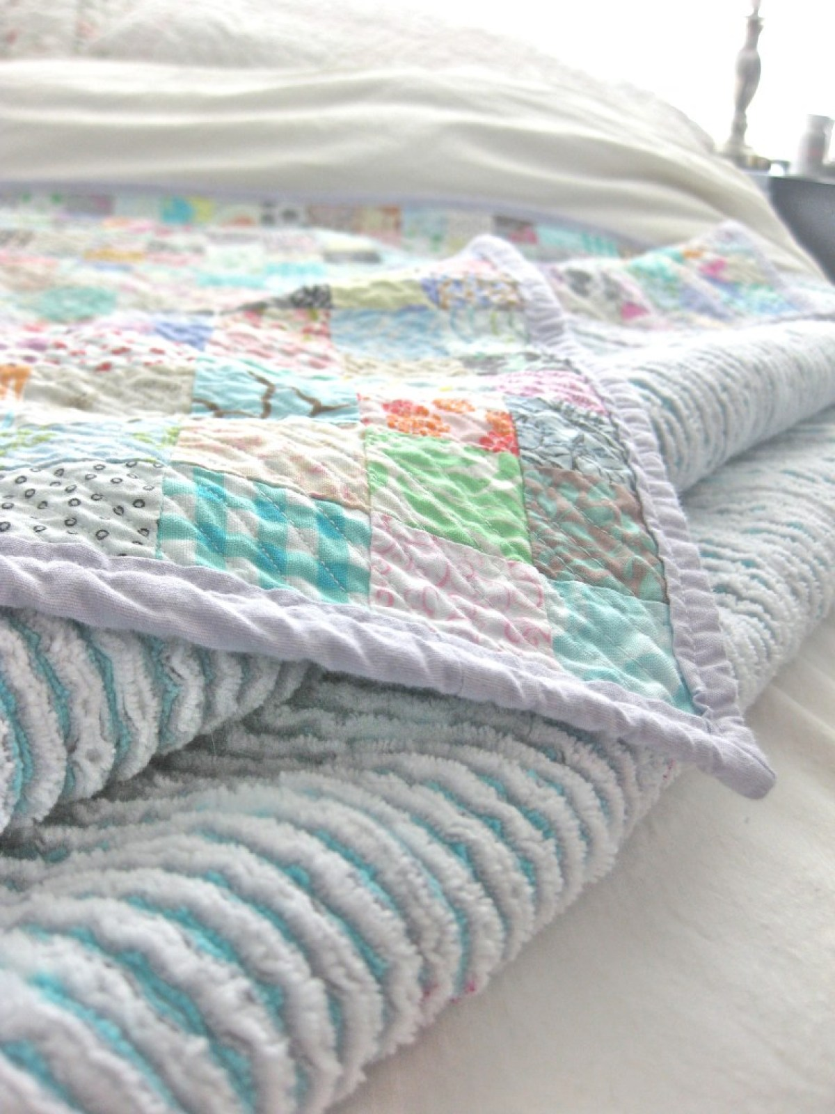 10 Free Modern Quilt Patterns For Beginners! - Queen Size Faux Chenille Quilt – from Making Things is Awesome