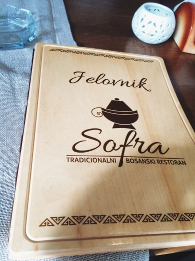 Sofra Restaurant Menu