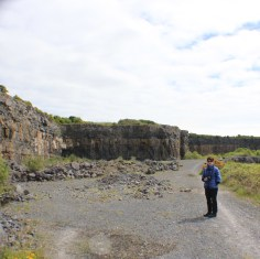 Christine Casey at Anglingham Quarry, Co. Galway
