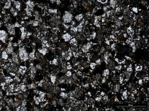 Thin section (ppl) of Mansfield Sandstone