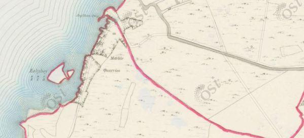 Angliham & Menlough Quarries_Historic Map 6inch OSI Map (1837-1842)