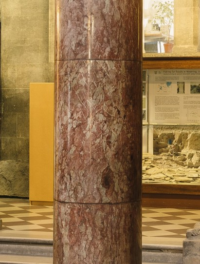 Cork Red Marble Columns in the Museum Building