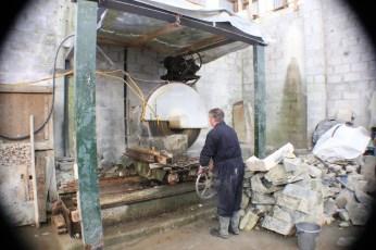 Cutting Connemara Marble at Streamstown