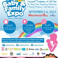 3rd BABY & FAMILY EXPO PHILIPPINES 2015  TO LAUNCH IN SEPTEMBER AT MEGATRADE