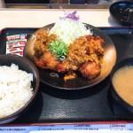とんかつ松乃屋の油淋鶏定食630円