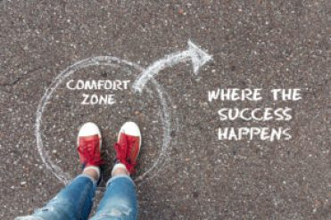 Leave the comfort zone image.