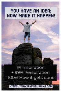 1% inspiration, 99% perspiration image