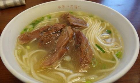 永康牛肉麵館の牛肉麺