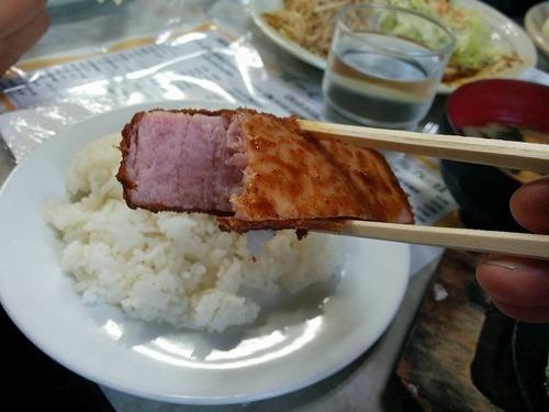 レストランばーく ハムカツ