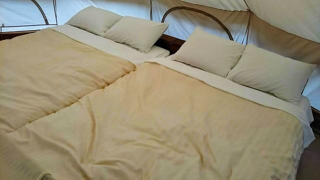 THEファームキャンプ場 リバーサイド ベッド