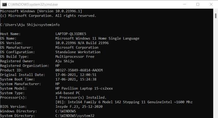 windows 11 command prompt