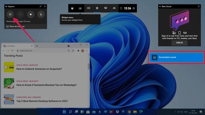 windows 11 screenshot gaming