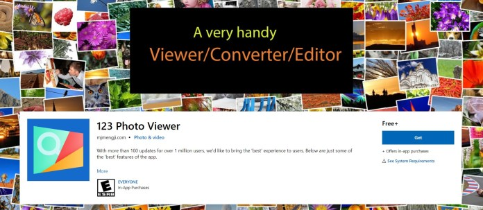 123 Photo viewer for Windows 11 OS
