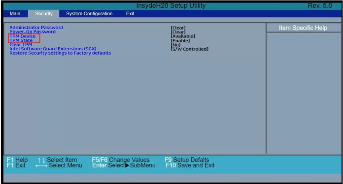 How to Enable TPM in BIOS HP