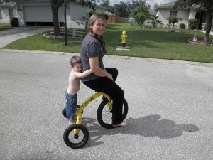 Mom & Jakobi on CycoCycle