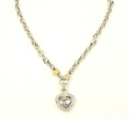 jane heart necklace white