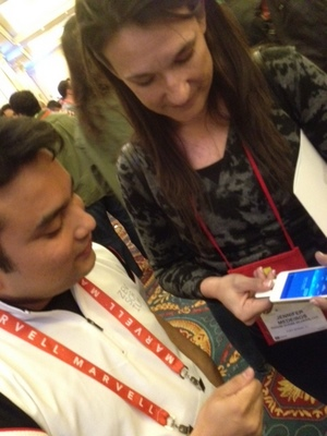 Checking blood Pressure at CES