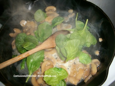 Spinach & mushrooms