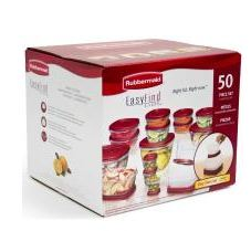 50 Piece Rubbermaid Storage For 19.99 after Cash Back