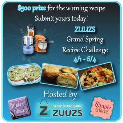You Can Win PayPal Cash By Voting At The zuuzs Grand Spring Recipe Challenge Sweepstakes