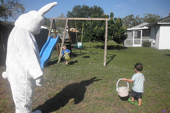 Toddler Egg Hunting