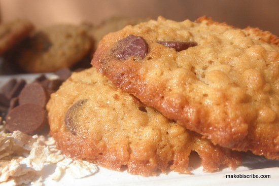 Chocolate Chip Oatmeal Buttermilk Cookies