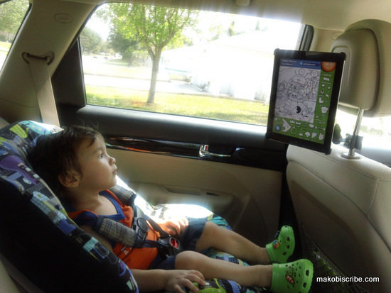 Easy Driving With Toddlers Using The Joy Factory iPad Valet Headrest Mount