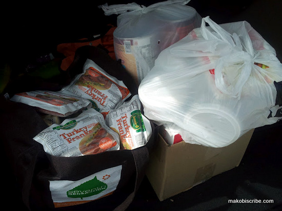 I ended up with 4 bags of groceries