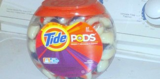 Pods on Washing Machine