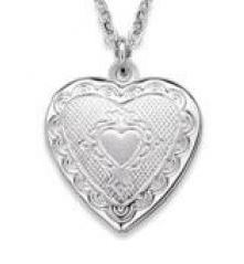 2 Photo Heart Locket Necklace
