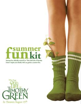 Summer Fun Kit inspired by The Odd Life of Timothy Green