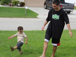 Billy Training With Mason in his MMA apparel